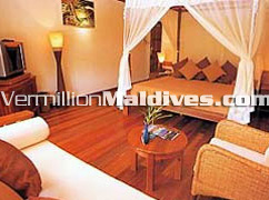 Bedroom in Kanhuraa Island Resort: A Deluxe resort of Maldives