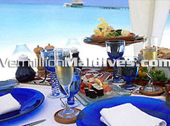 Dine on the Beach of the Luxury Hotel Kanuhuraa Maldives