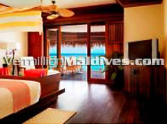 Water Villa accommodation of the honeymoon special resort Kanuhruaa