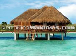 Water Villa of the five star luxury Maldives resort hotel Kanuhura
