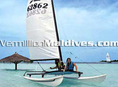 Catamaran Sailing: Tour and sail around the Maldives Atolls