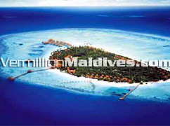 Aerial Picture of Kihaadhuffaru Maldives Island Beach Resort Hotel