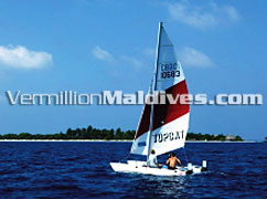 Catamaran Sailing and tours in Maldives Resort Komandoo Island