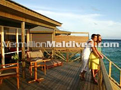Jacuzzi Water Villa Deck of Komandoo - Maldives Honeymoon Island resort