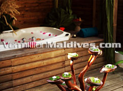 Jacuzzi in Beach Villas at  Komandoo Island Resort Maldives