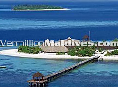 Main Jetty of Komandoo : a Small beautiful resort in Maldives