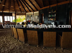 Main Bar in Komandoo. Vacations on special prices for honeymooners