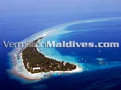 Kuramathi Island Picture – Birds eye view of Maldives Kuramathin Resort