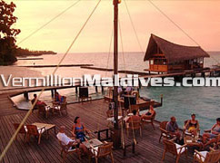 Open air Bar at Kuramathi Cottage & Spa Resorts Maldives