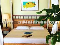 Maldives Kuramathi Cottage & Spa accommodation interior