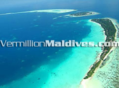 Aerial Picture of Kuramathi Village, Beach resort Hotel Maldives