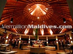 Haruge - Interior of Restaurant of Kuramathi Village Maldives