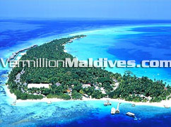 Aerrial Picture of Kuramathi Beach Resort Hotel Maldives