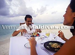 Romantic beach lunch or dinner at Kuramathi Blue Lagoon Maldives Resort