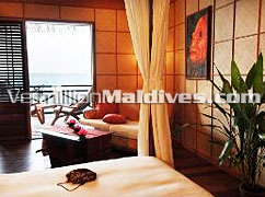 Water Bungalows Interior: Kuramathi Blue Lagoon Maldives Honeymoon hotels