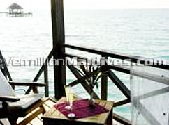 Water Bungalows : un spoilt natural beauty.of Kuramathi Blue Lagoon Hotel Maldives
