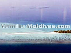 Beach Stretch - Sand Bank in Kuramathi Island Resort in Maldives