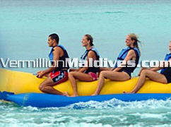 Banana Boat Riding & other water sports and fun activities at Kuramathi Maldives