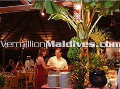 Kuramathi Maldives restaurant offering varieties of quality cuisines