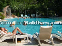 Pool Area of Kuramathi Island Resort – Enjoy Maldives at its best