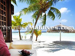 Beautiful View from Deluxe Bungalow – Luxury Resort Kurumba Maldives