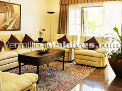 Living Room -Maldives Hotel Kurumba : for diplomatic vacations and holidays