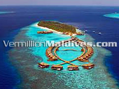 Lily Beach Resort & Spa hotel at Huvahendhoo Maldives aerial Picture
