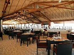 Main restaurant of the resort Lily beach. Provides world class cuisines