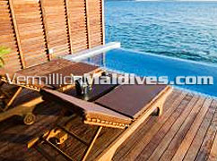 On the lagoon the Deluxe Water Villa at Lily Beach Maldives