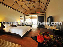 Spacious Beach Villas of the affordable luxury hotels Maldives Lily beach & Spa
