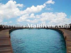 Water Villas of Lily Beach. Trendy classy hotel for the rich & wealthy