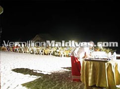 Dinner Under the stars in Madoogali Island Resort
