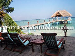 Grab a Sun chair and enjoy the nature of Madoogali Island Resort Hotel Maldives