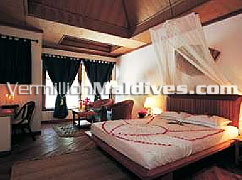 Inside the Standard room of Madoogali  Resort Hotel of Maldives