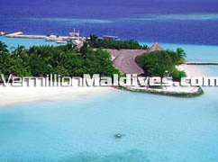 Beautiful picture of the resort island Maldives Makunudu