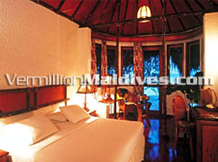 Bungalow accommodations of the holiday resort Maldives Makunudu