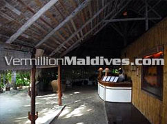 Reception of the hotel Makunudu Maldives – Budget Hotel of Maldives