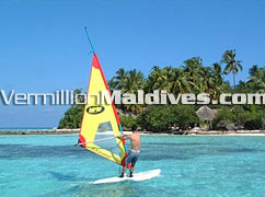 Windsurfing -Maldives Makunudu – Watersports for Beginners as well