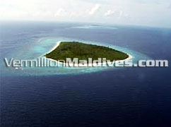 Aerial View of Maavelavaru - Mandarin Orientals Resort in Maldives