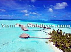 Aerial Photo of Bar & Water Villas: Five Star Hotel Maldives Medhufushi