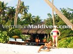 Exterior of Beach Villas at Hotel Medhufushi Maldives