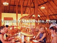 Interior of the Main Retaurant in Medhufushi Island Resort Maldives