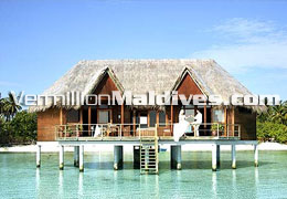 Honeymoon Water Villa Suite at Meeru Island resort Maldives