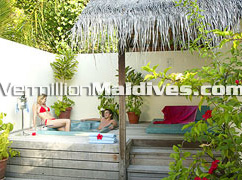 Jacuzzi Beach Villa at Meeru ideal for your Honeymoon
