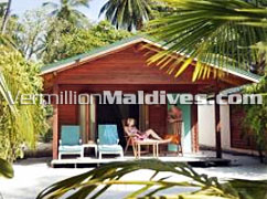 Jacuzzi Beach villa accommodation for you to reserve at Meeru Island Maldives