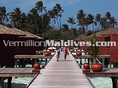 Jet pools in the Jacuzzi Water Villas at this great vacation spot Meeru