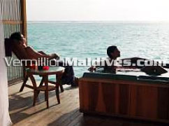 Stylish and beautiful Over water Spa. A Spa resort of Maldives