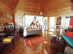 Water Villa Accommodation of the stylish Meeru Island Resort Maldives