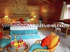 Wooden Accommodation of Land Villa at Meeru Maldives Holiday resort