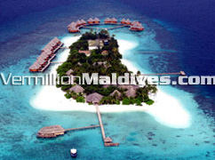 Aerial photo image of Mirihi Island Maldives Resort hotel